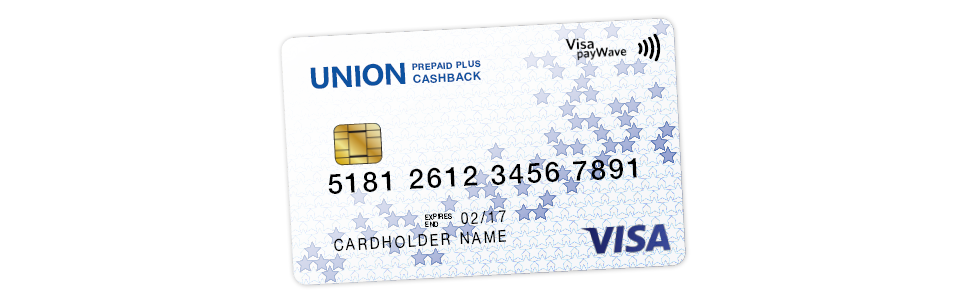 Welcome to the Union Prepaid Plus Cashback card!